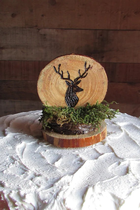 deer cake topper buck