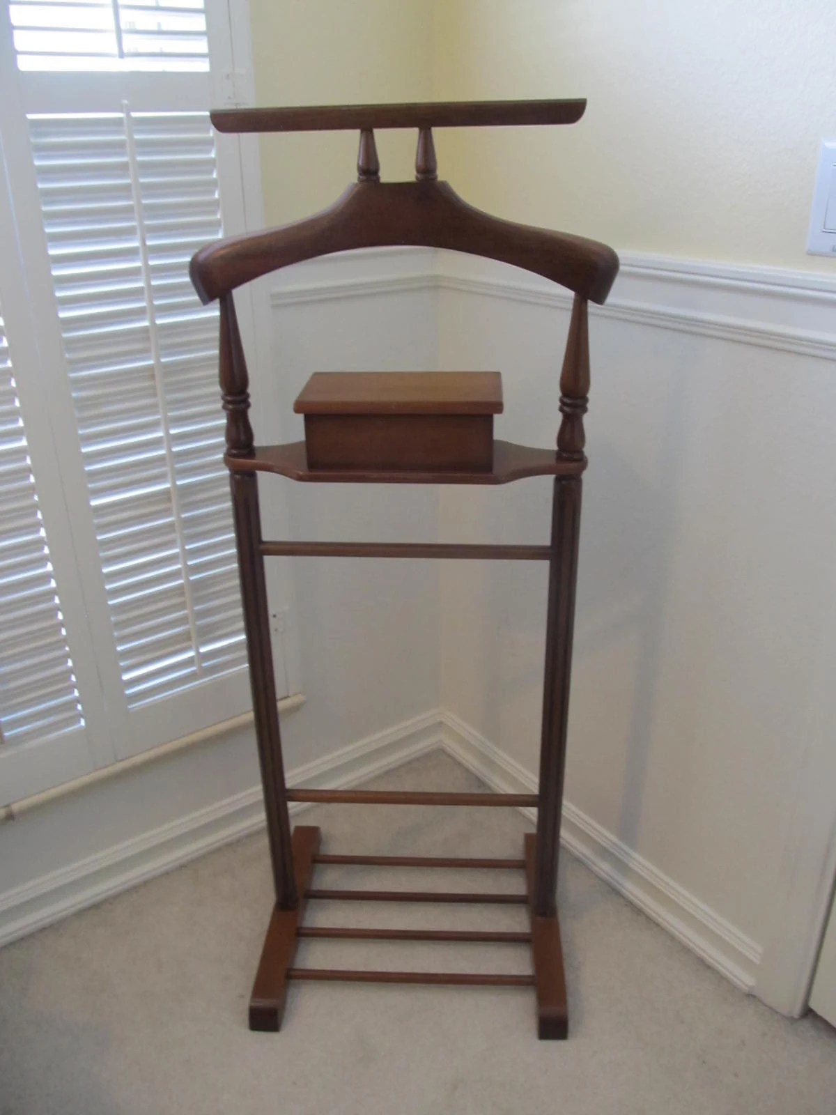 mens chair valet stand plans for adirondack template etsy mid century butler furniture hollywood regency clothing suits