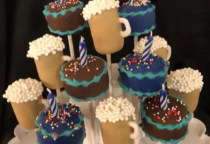 Birthday Cake Beer Mugs 21st Bday Cake Pops Adult Etsy