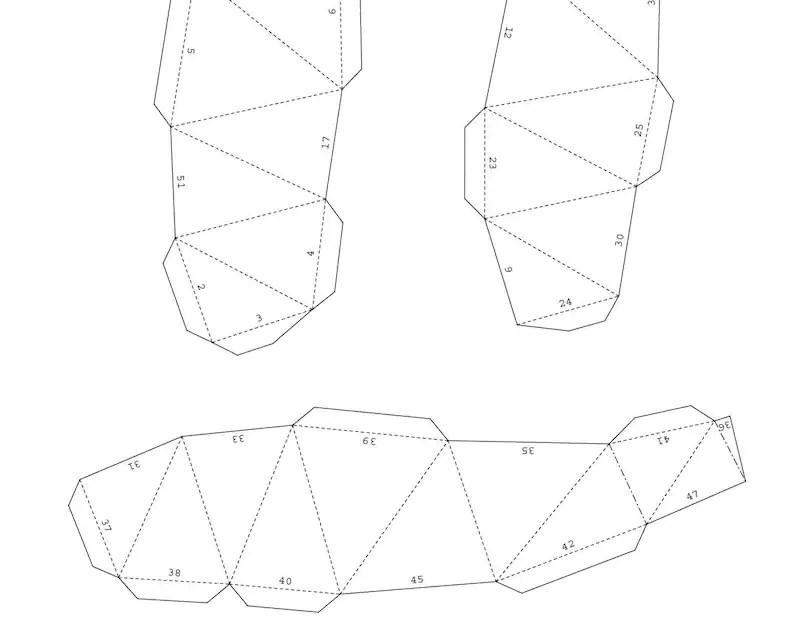 Printable DIY template PDF. Vase low poly paper model. 3D