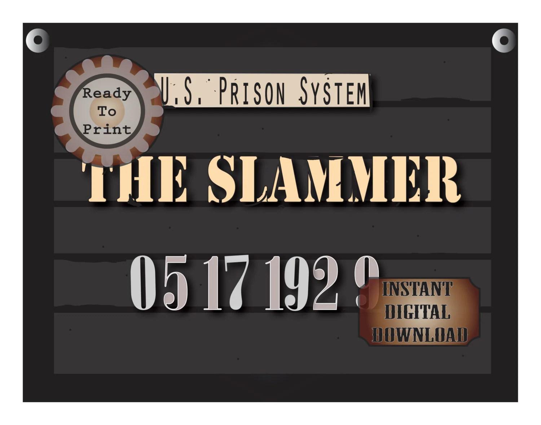 The Slammer Police Line Up Sign Printable S Mug Shot 2