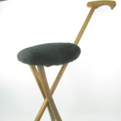 Walking Stick Chair Qvc Swivel Chairkan O Seat1930s Folding Stool Etsy Image 0