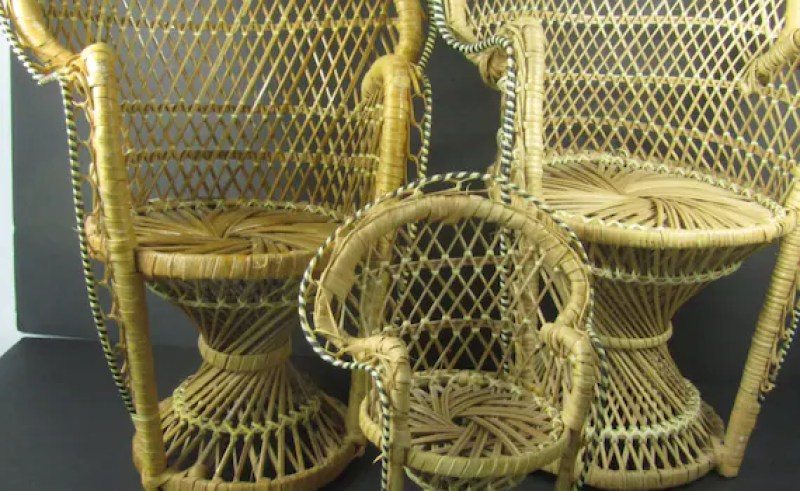 Excellent Wicker Fan Chair Beauty Within Clinic Lamtechconsult Wood Chair Design Ideas Lamtechconsultcom