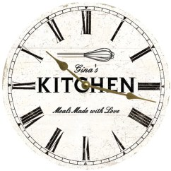 Rustic Kitchen Clock Island Legs Personalized Wall White Etsy