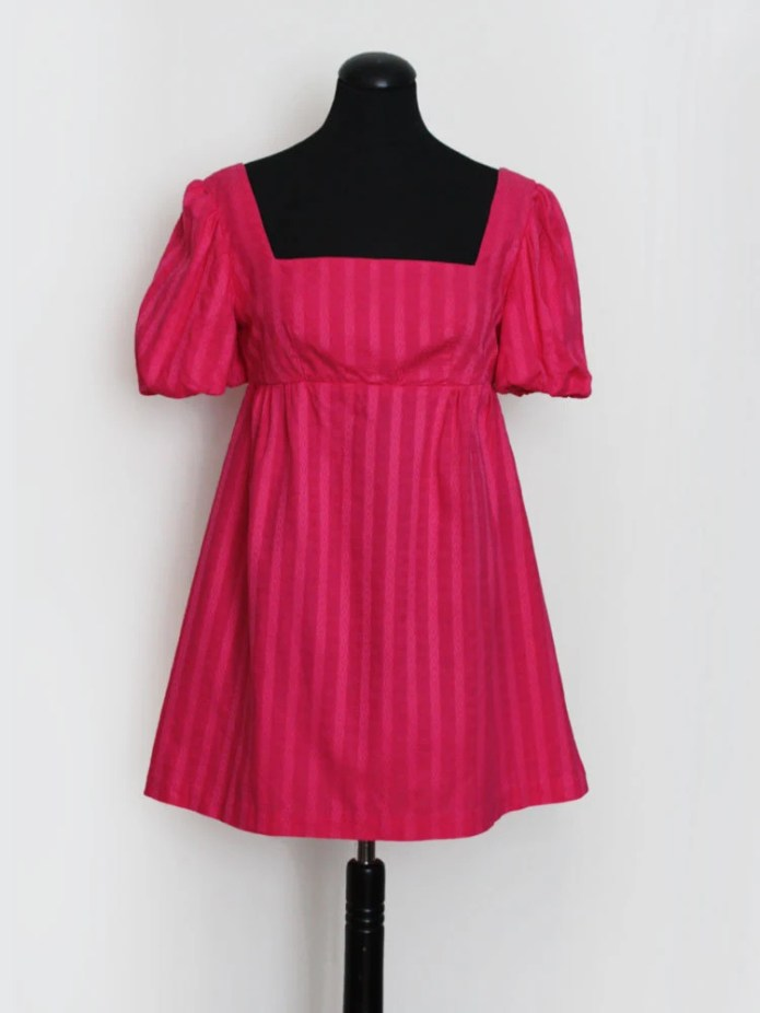 1960s Pink Puff Sleeve Pa...
