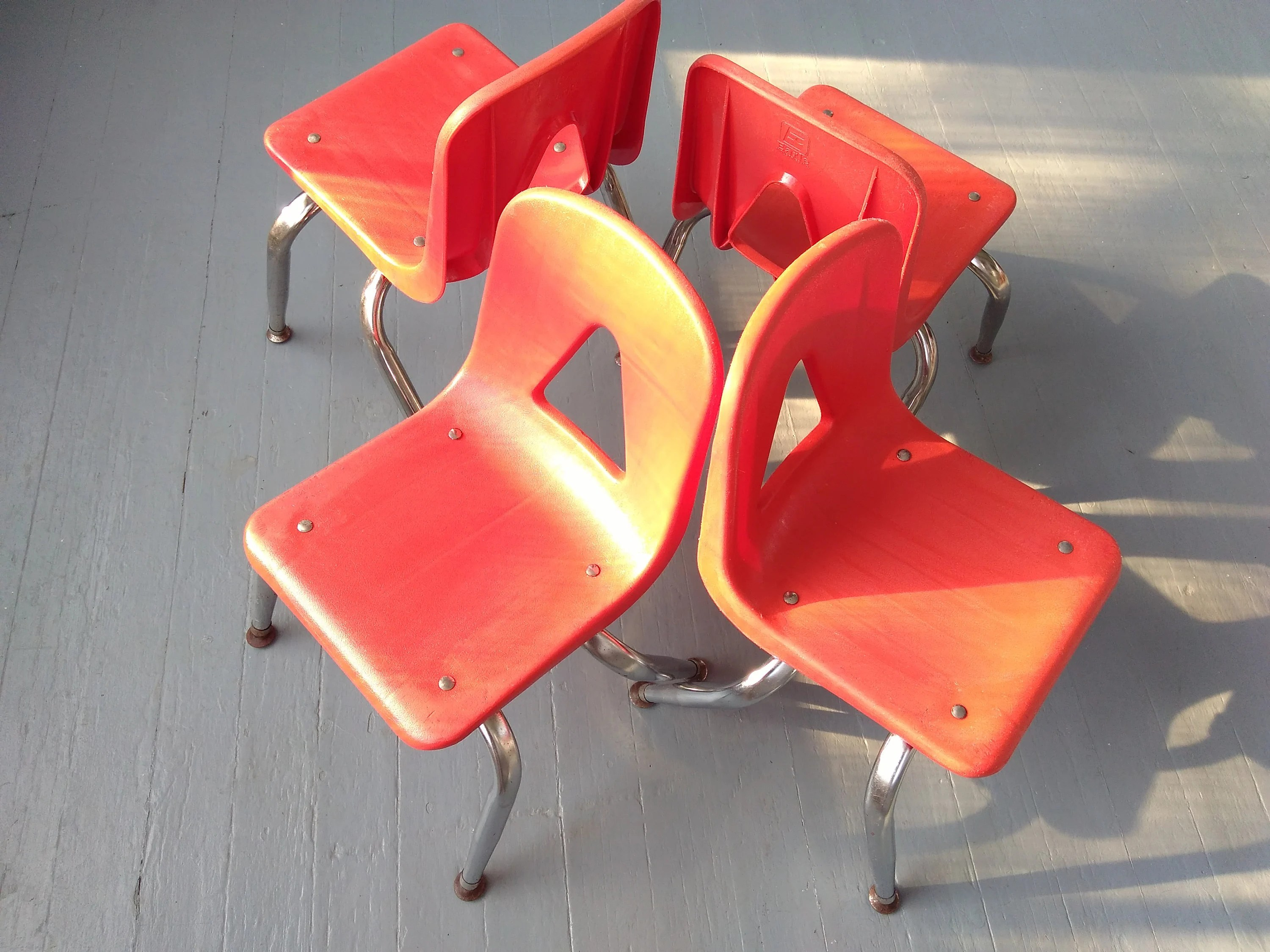 Vintage Chairs Kids Chairs Shell Chairs Stacking Chairs Set