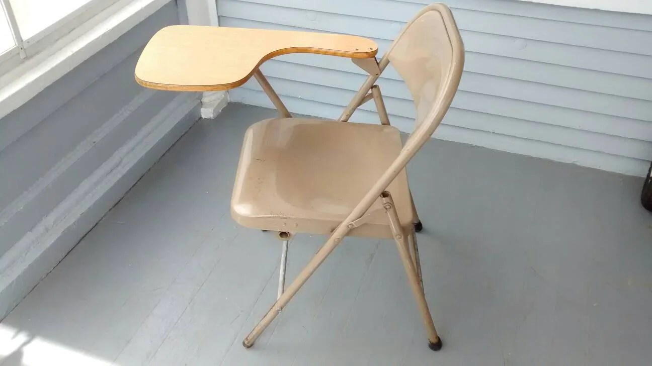 krueger folding chairs safety first booster chair instructions desk and student writing lap top portable metal wood rhymeswithdaughter