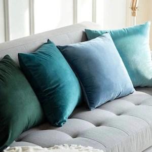 velvet pillow cover etsy