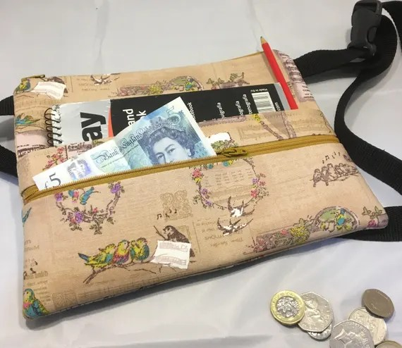 Money belt for craft fairs by Rectory Crafts