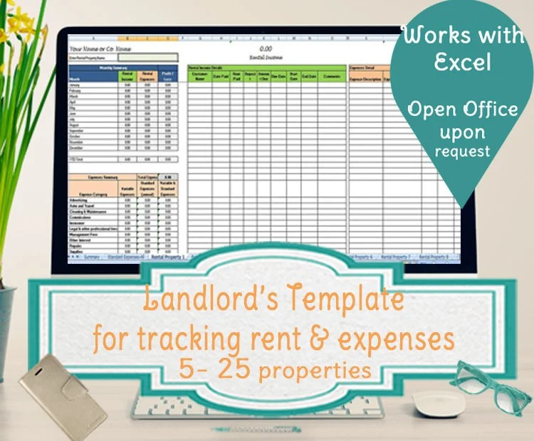 AirBnb Expense Tracker Template AirBnb Spreadsheet Template