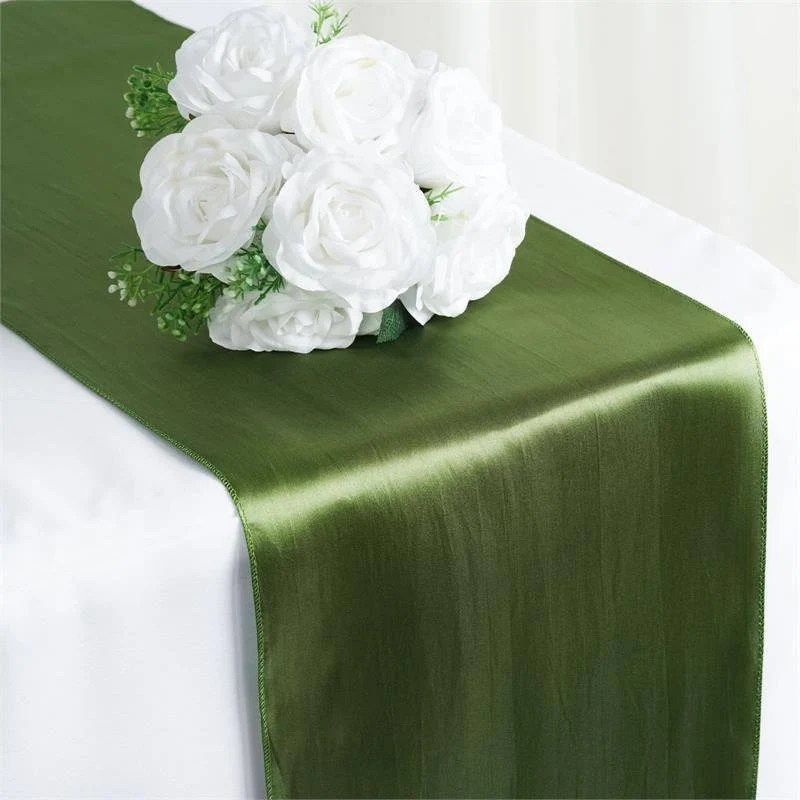 willow green satin table