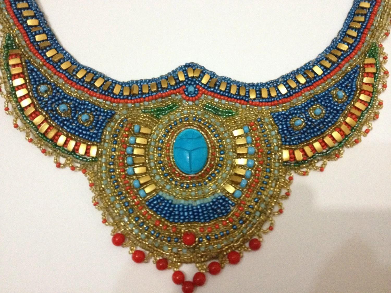 Items Similar To Egyptian Scarab Necklace Egyptian