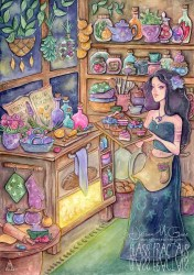 Kitchen Witchin Ver6 // Magical/Witch/Fantasy/ART PRINT Etsy