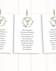 Seating chart template printable plan greenery wedding cards hanging instant download also rh marrymepaperboutique
