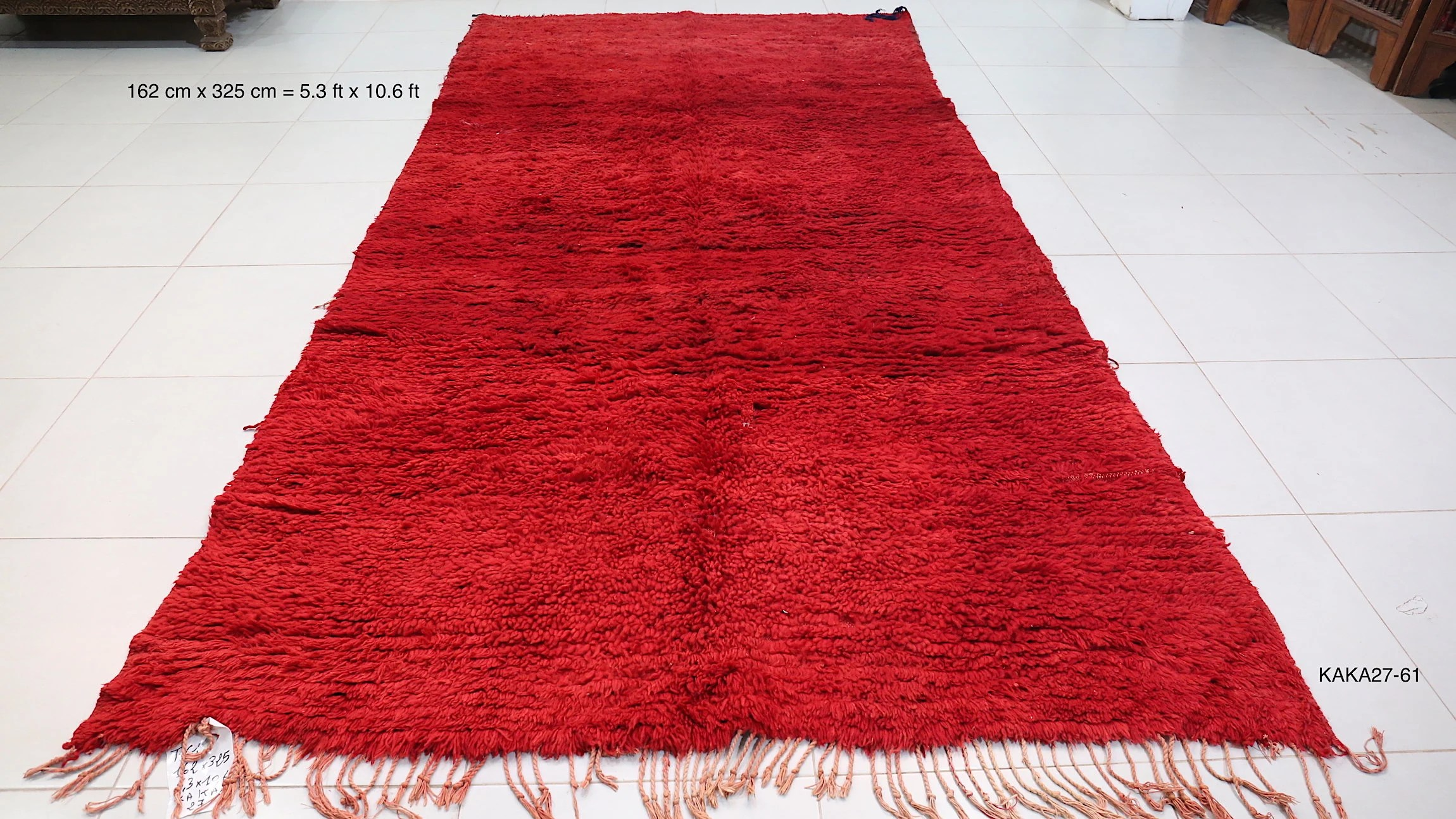 Teppich Vintage Design Solid Red Magnificent Berber Rug 5 3ft X 10 6ft Vintage Moroccan Rug Plain Teppich Tapis All Wool Handmade Beni Ourain Vintage Rug