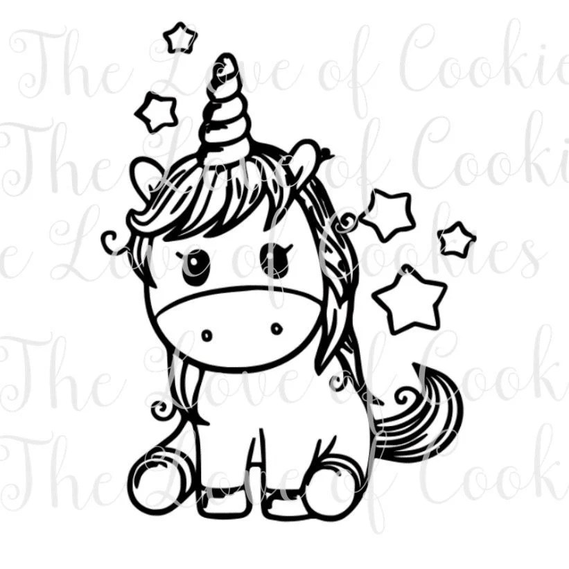 PYO Unicorn silk screen stencil Unicorn cookie silk Screen