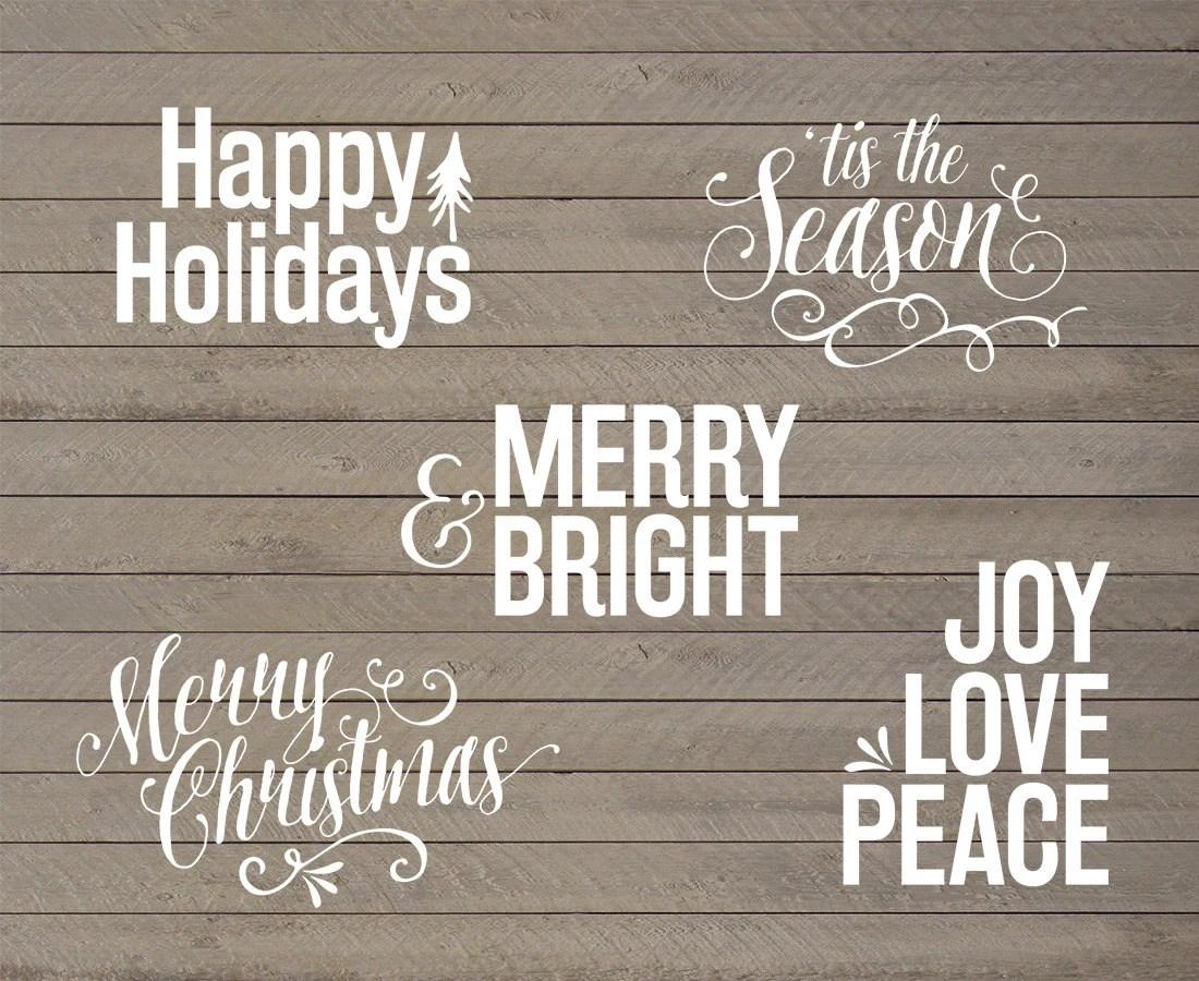 5 psd christmas overlays