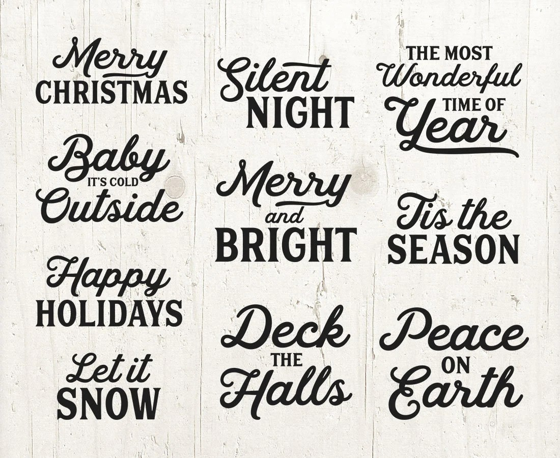 10 word overlays christmas