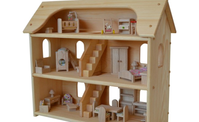 Handcrafted Natural Wooden Toy Dollhouse Waldorf Etsy