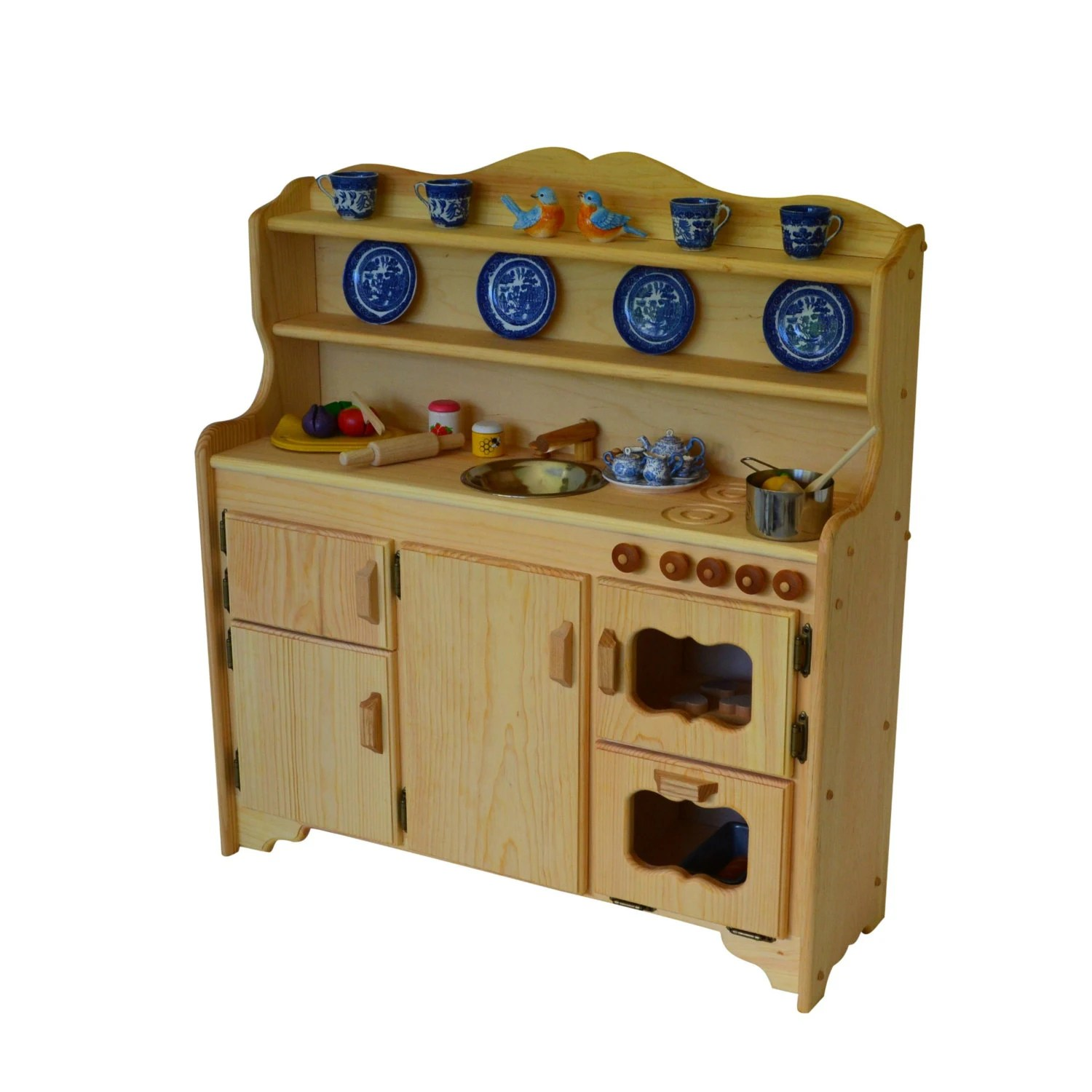 wooden toy kitchen remodelling waldorf play stove etsy image 0