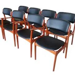 Erik Buck Chairs Stylish Office Etsy Eight 8 Danish Teak Dining For Od Mobler