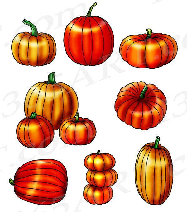 harvest pumpkin clipart