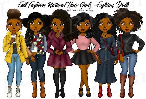 50 Off Fall Fashion Girls Clipart Fall Fashion Natural Hair