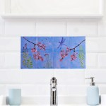Tile Mural Decorative Tiles Hand Painted Wall Decor Kitchen Art Ceramic Tiles Custom Sizes Available 8in X 16in