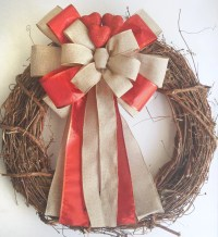 Burlap Valentines Day Wreath Bow Valentines Day Decoration ...
