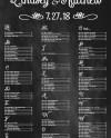 Chalkboard Wedding Seating Chart Seating Chart Board Wedding Etsy