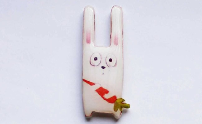 Happy Easter Bunny Gifts For Her White Rabbit Pins Rabbit
