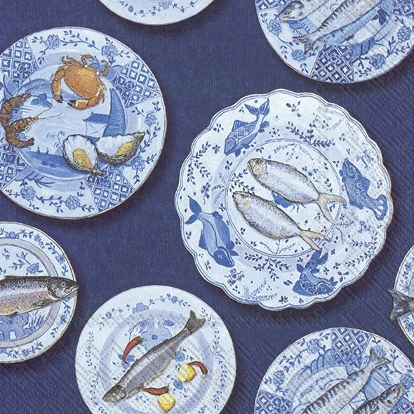 Visualizza altre idee su porcellana, pittura, pittura porcellana. Tovaglioli Decoupage Frutti Di Mare Sul Piatto Di Porcellana Etsy