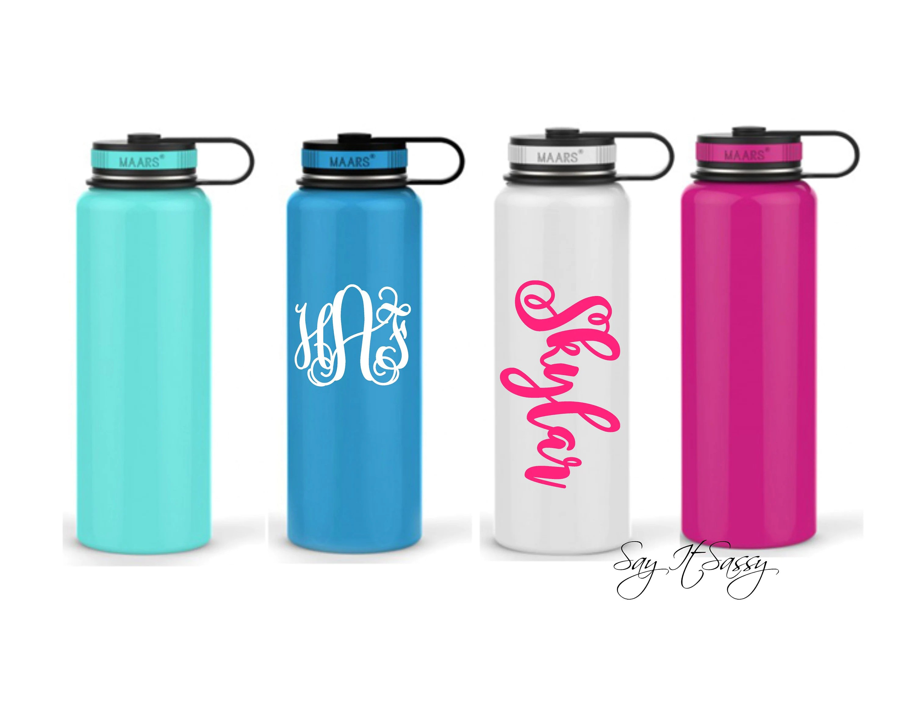 personalized water bottle stainless