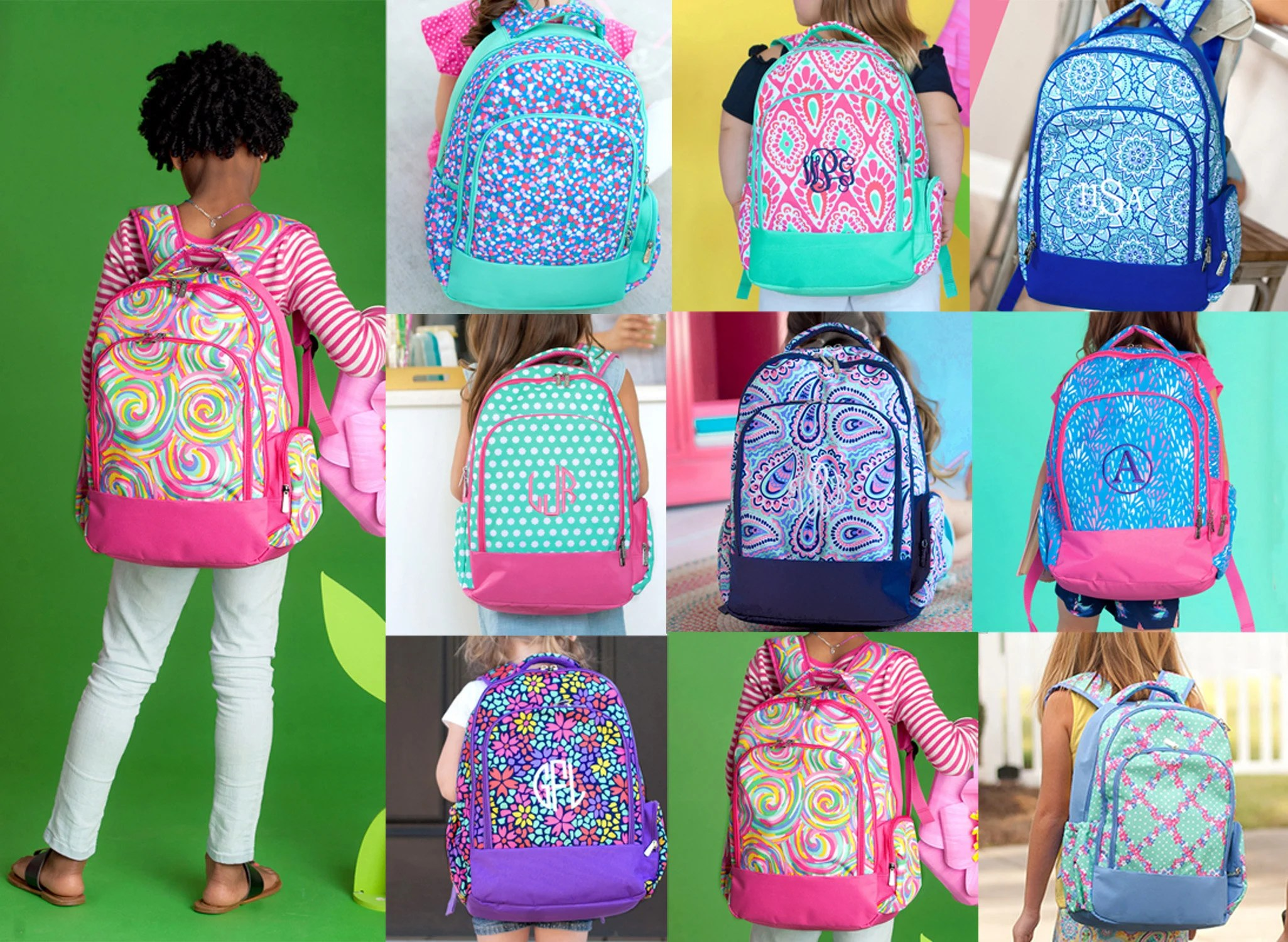 monogrammed backpack personalized backpack