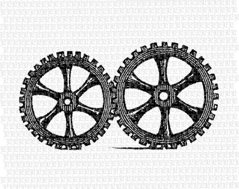 Machine Gears Steampunk Victorian Digital Clip Art