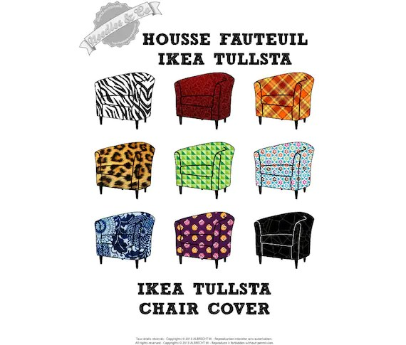 ikea chair covers tullsta stool rolling cover pattern patron housse etsy image 0