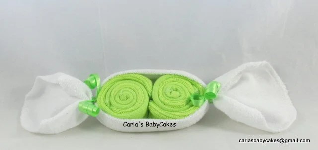 baby washcloth pea pod