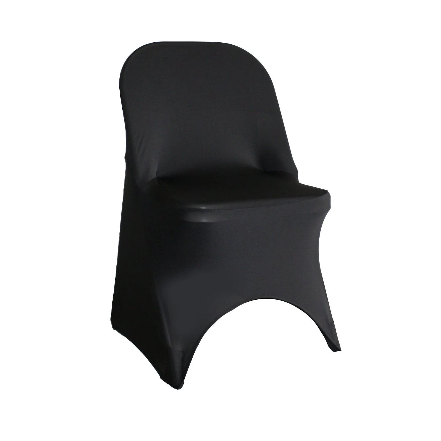 white chair covers cheap power reclining chairs etsy black spandex folding cover stretch wedding