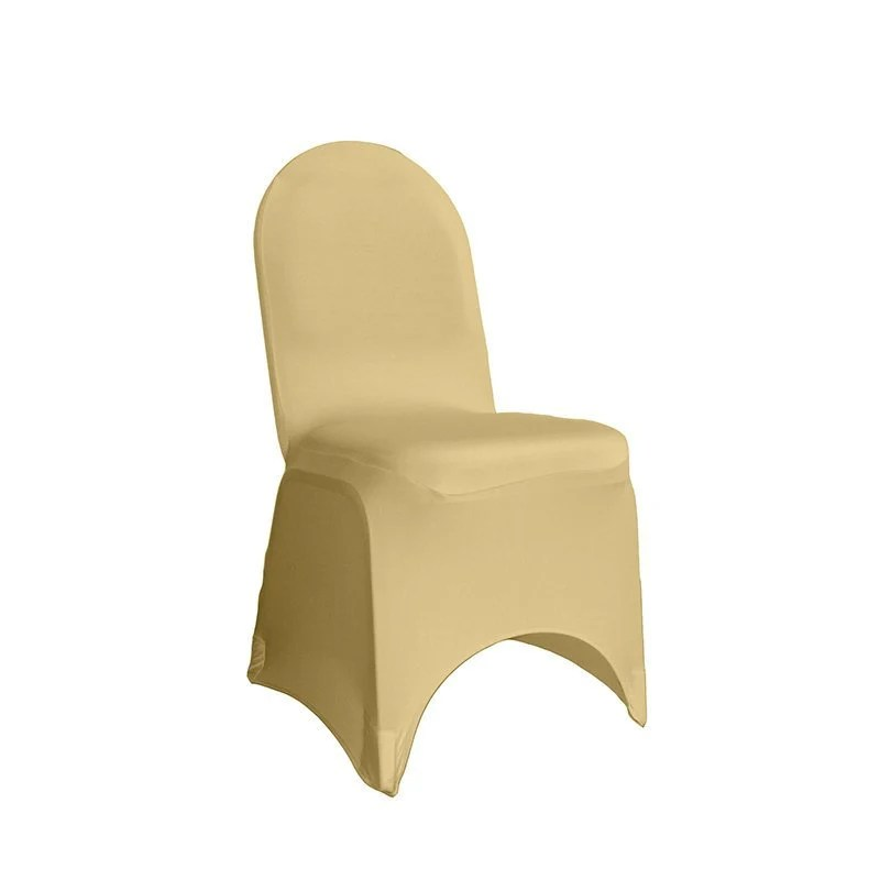 yellow chair covers used stacking chairs etsy champagne spandex banquet cover stretch wedding