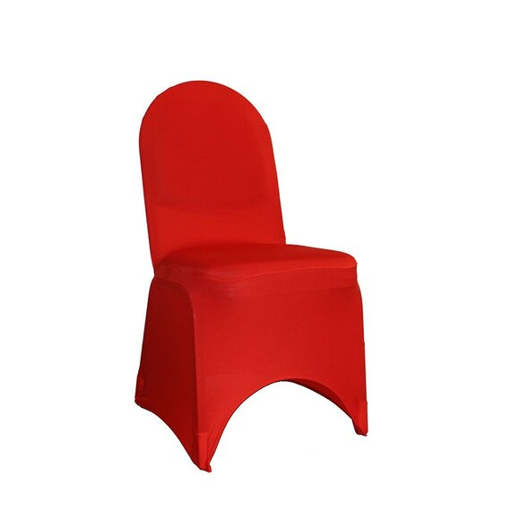 standard banquet chairs bedroom chair leather red spandex cover stretch covers etsy image 0