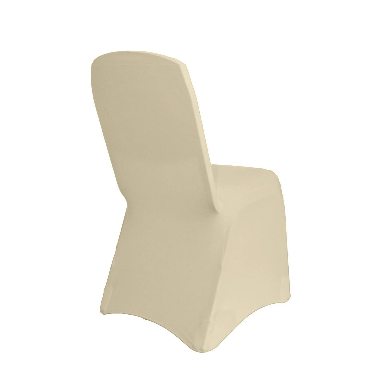 banquet chair covers wholesale hardwood folding chairs ivory square top spandex cover etsy image 0