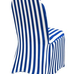 Blue Spandex Chair Covers Bamboo Couch And Chairs White Royal Striped Wedding Etsy Image 0