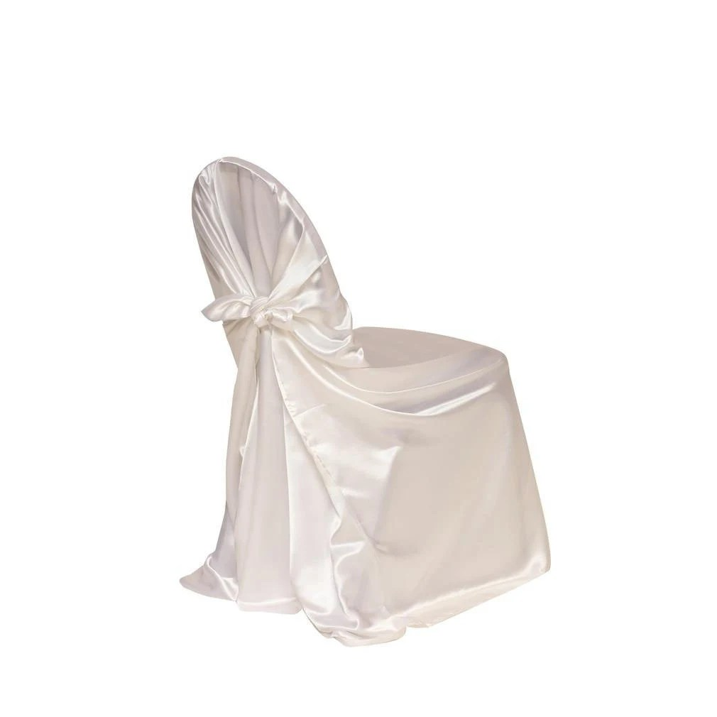 universal wedding chair covers gold on sale white satin cover etsy image 0