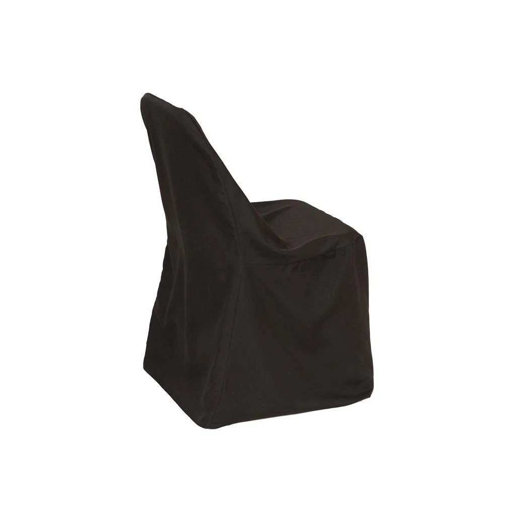 folding chair covers black office elbow pads polyester cover wedding etsy image 0
