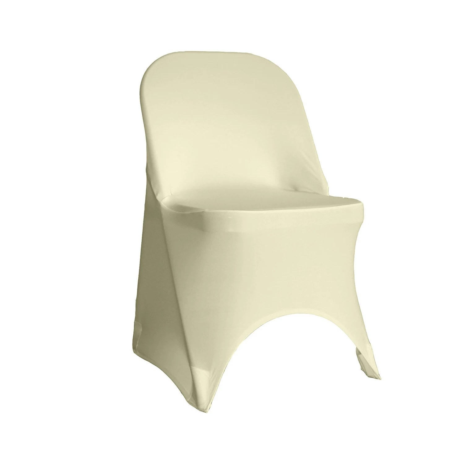 chair covers for purchase hunting stools and chairs ivory spandex folding cover stretch etsy 50