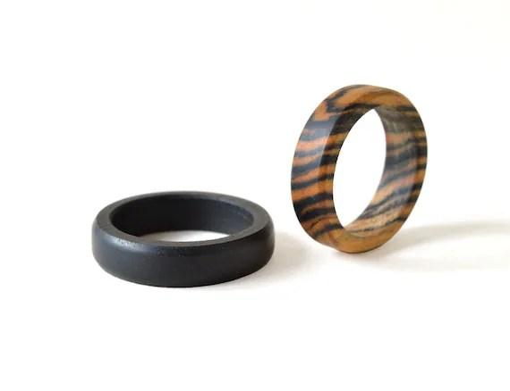 Ebenholz Ring Set Holz Trauringe Holz Ringe Eheringe Set