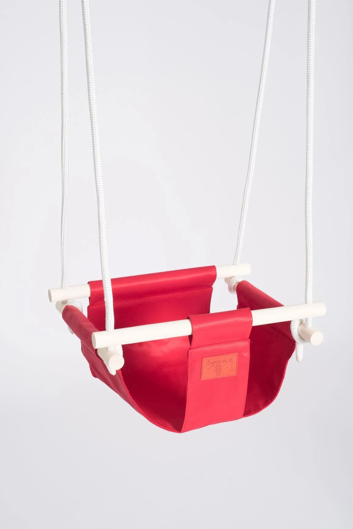 hanging chair for baby anti gravity toddler swing wooden red etsy image 0