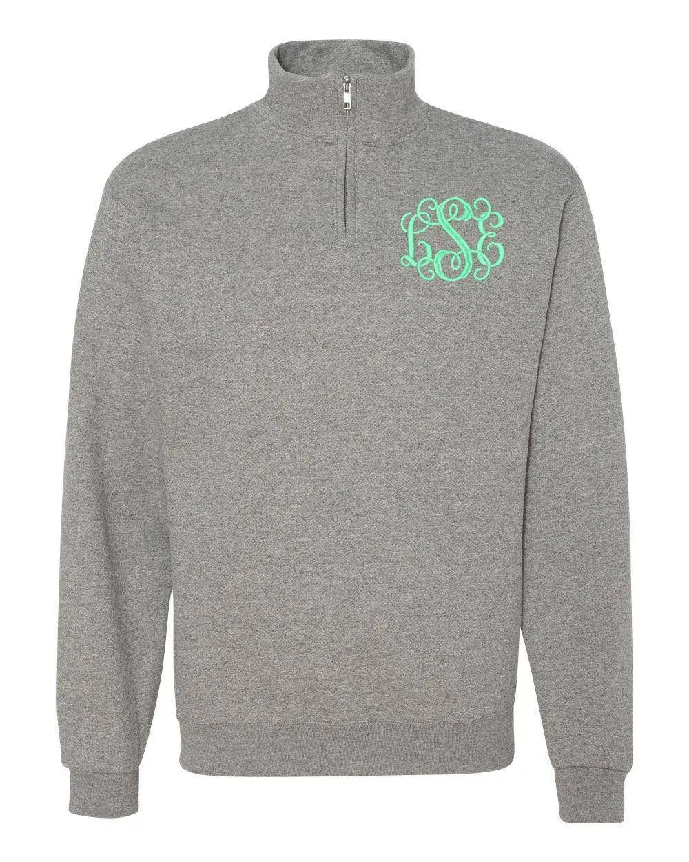 FREE Shipping  Monogram Pullover  Personalized Quarter Zip image 3