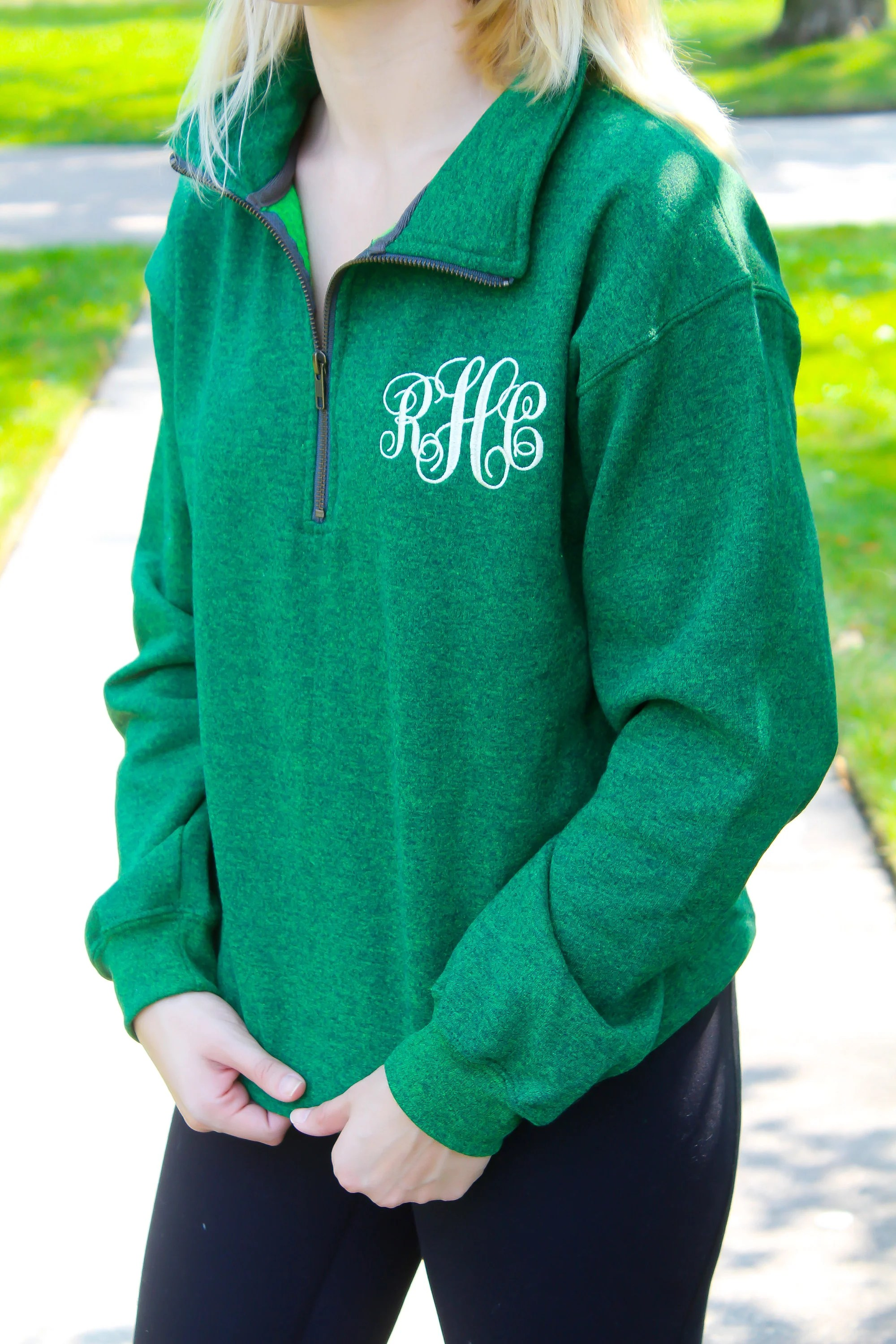 FREE Shipping  Monogram Pullover  Personalized Quarter Zip image 1