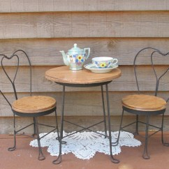 Ice Cream Table And Chairs Dining Slipcovers Parlor Set Etsy Vintage Bistro Doll Furniture
